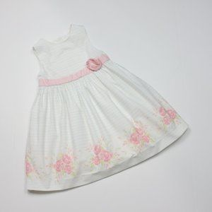 Janie and Jack White Floral Dress Sz 4T